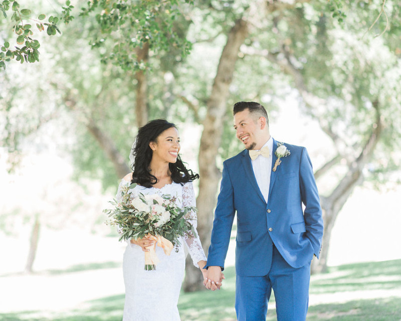A rustic themed wedding at the Wedgewood Sierra La Verne Country Club by wedding photographer Madison Ellis .