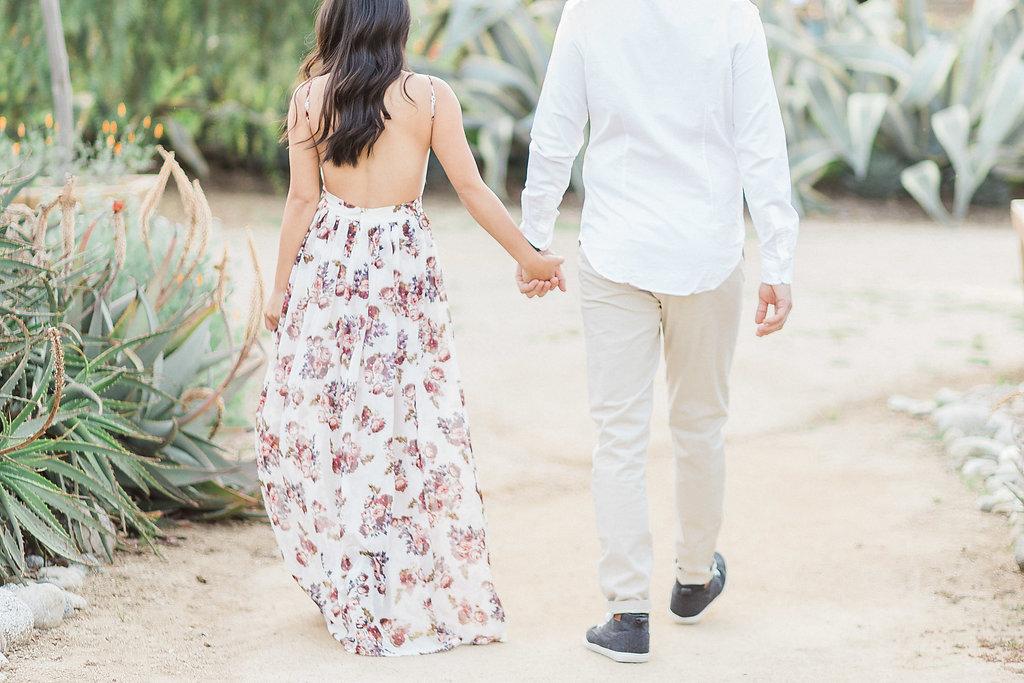 A Spring Inspired Engagement Shoot At The Arlington Gardens Pasadena By Madison Ellis Photography