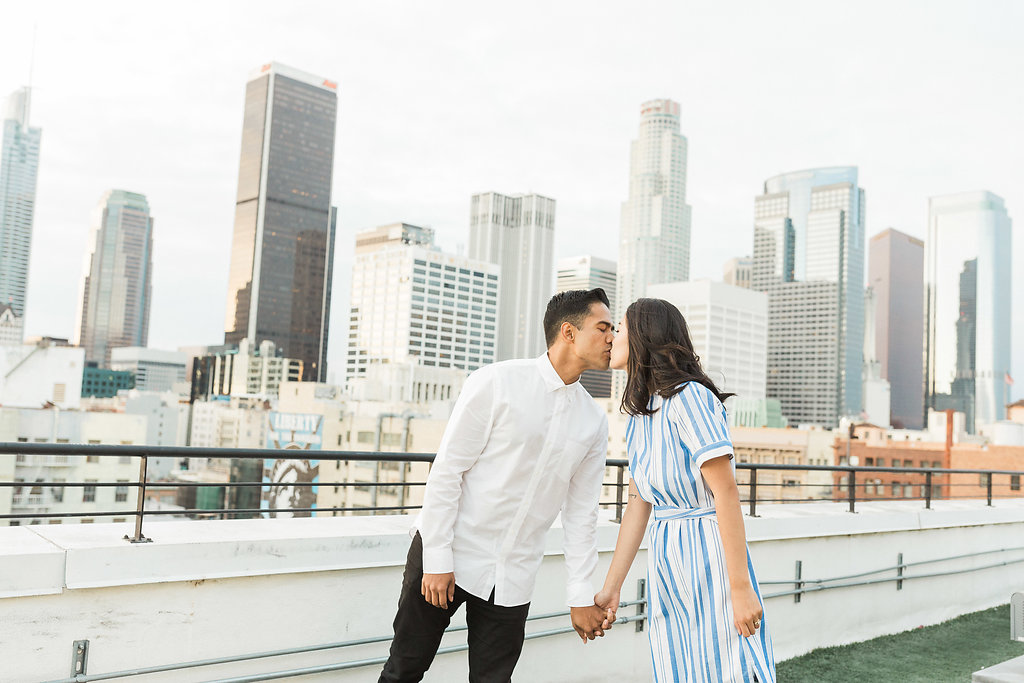 Rooftop Inspired Engagement Shoot in Downtown Los Angeles By Madison Ellis Photography