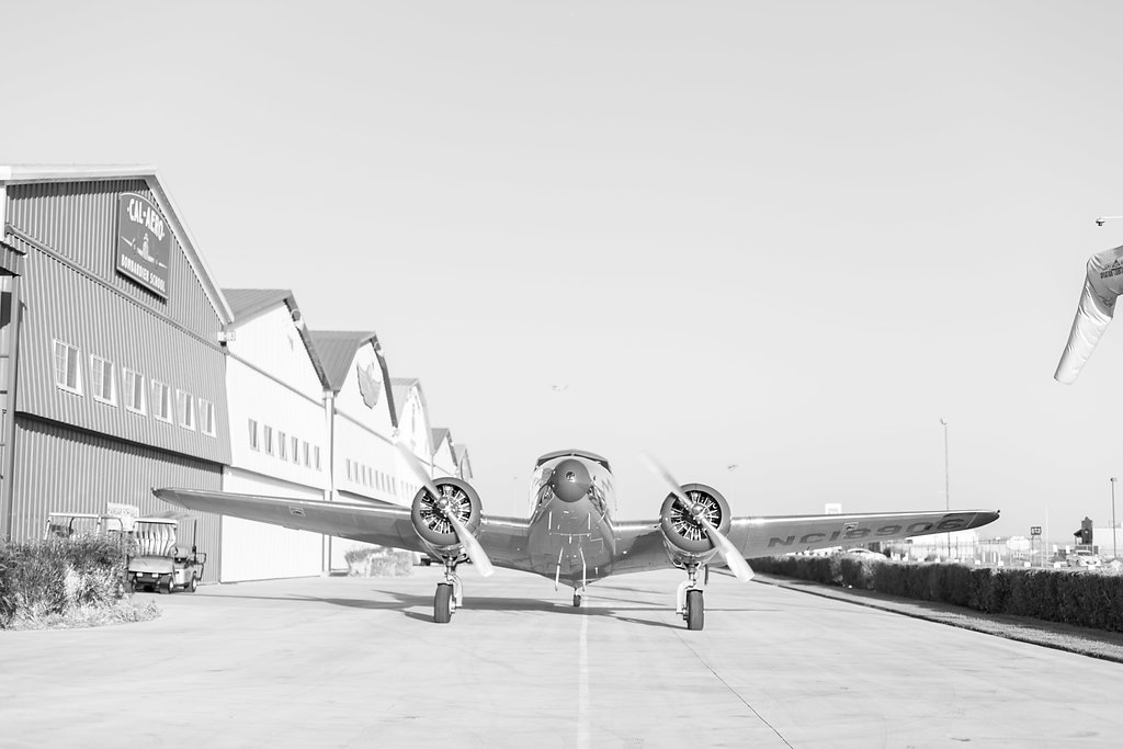 A country and airplane Inspired wedding at Cal Aero in Chino by Madison Ellis Photography