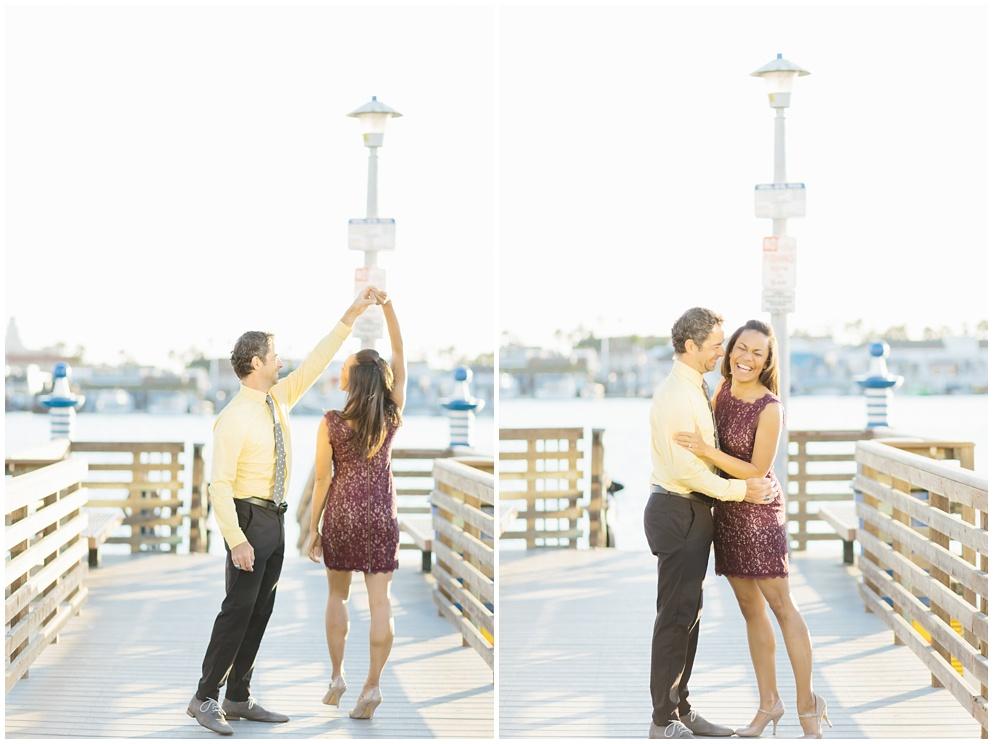 A fun & romantic engagement session at Balboa Island Newport Beach by wedding photographer Madison Ellis. (9)