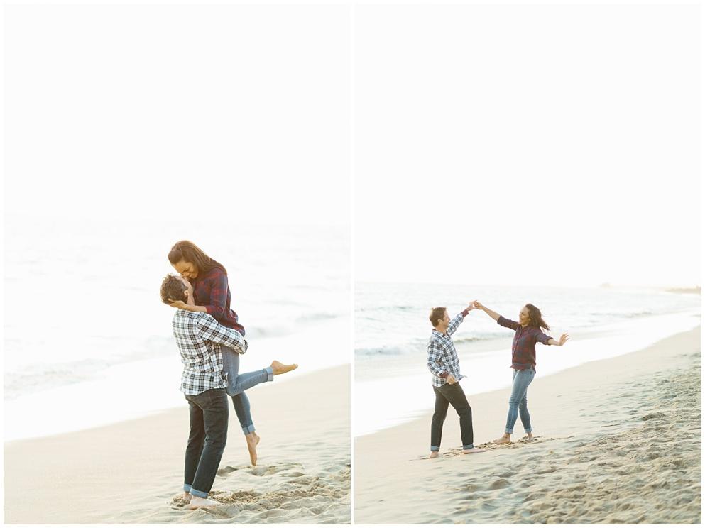 A fun & romantic engagement session at Balboa Island Newport Beach by wedding photographer Madison Ellis. (4)