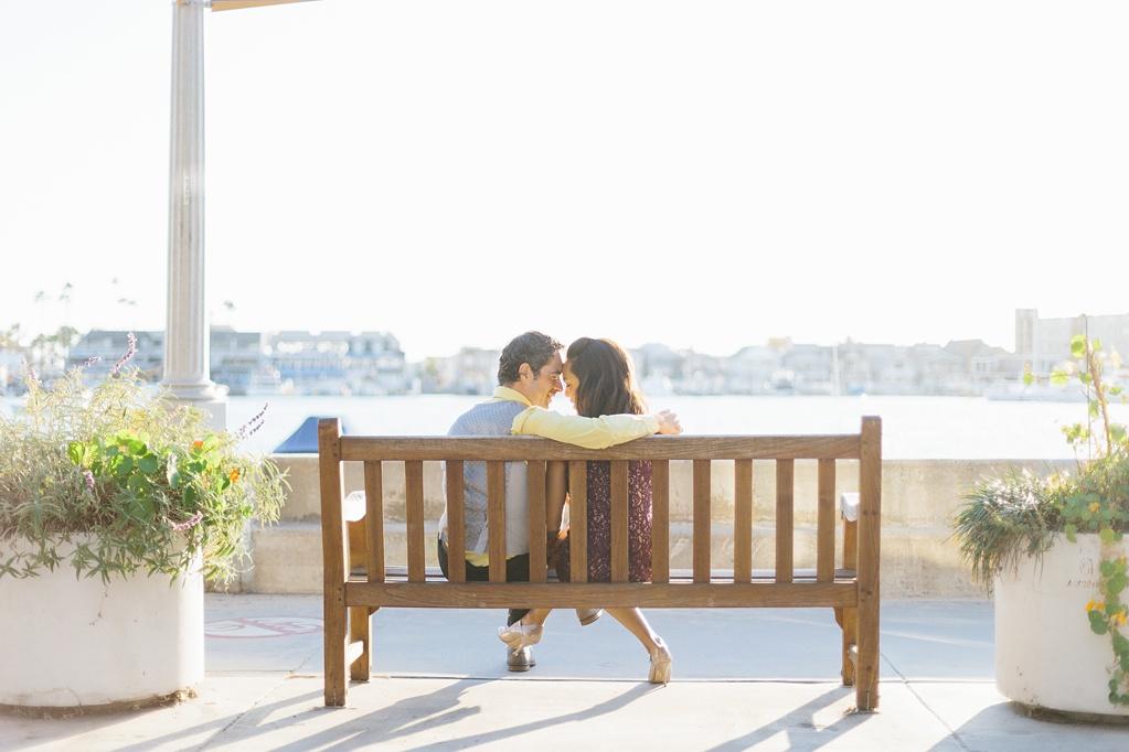 A fun & romantic engagement session at Balboa Island Newport Beach by wedding photographer Madison Ellis. (13)