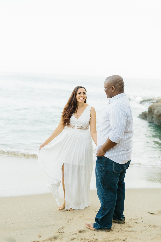 Laguna Beach Engagement, CA: Joshua + Ashley. A sweet and playful engagement session at Laguna Beach by wedding photographer Madison Ellis. (35)