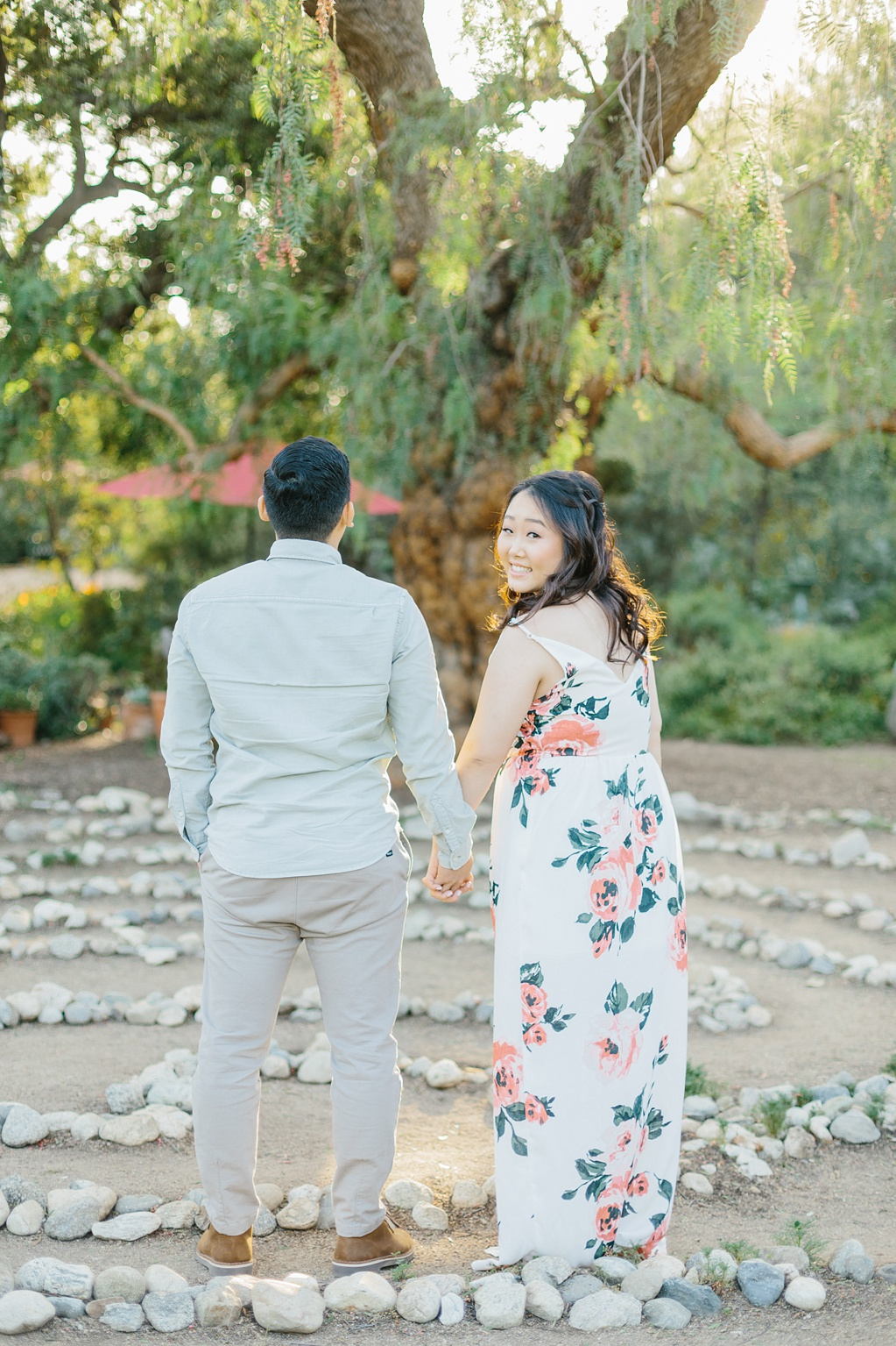 Organic floral inspired spring engagement session at Arlington Gardens Pasadena by wedding photographer Madison Ellis. (74)