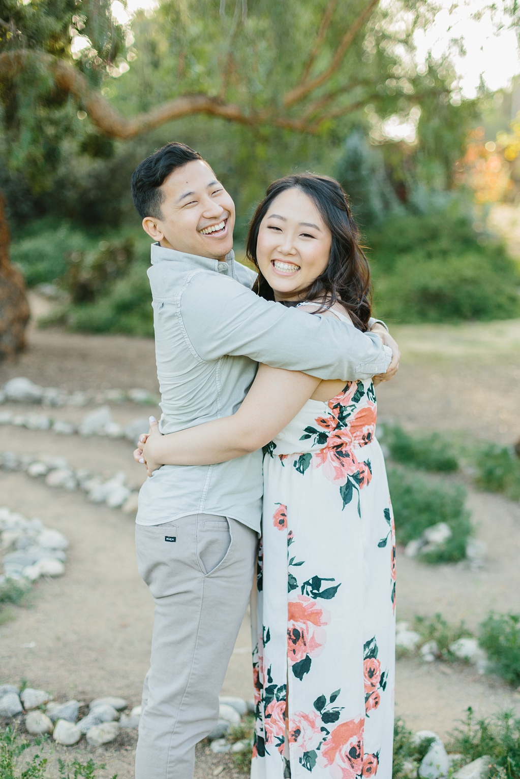 Organic floral inspired spring engagement session at Arlington Gardens Pasadena by wedding photographer Madison Ellis. (69)