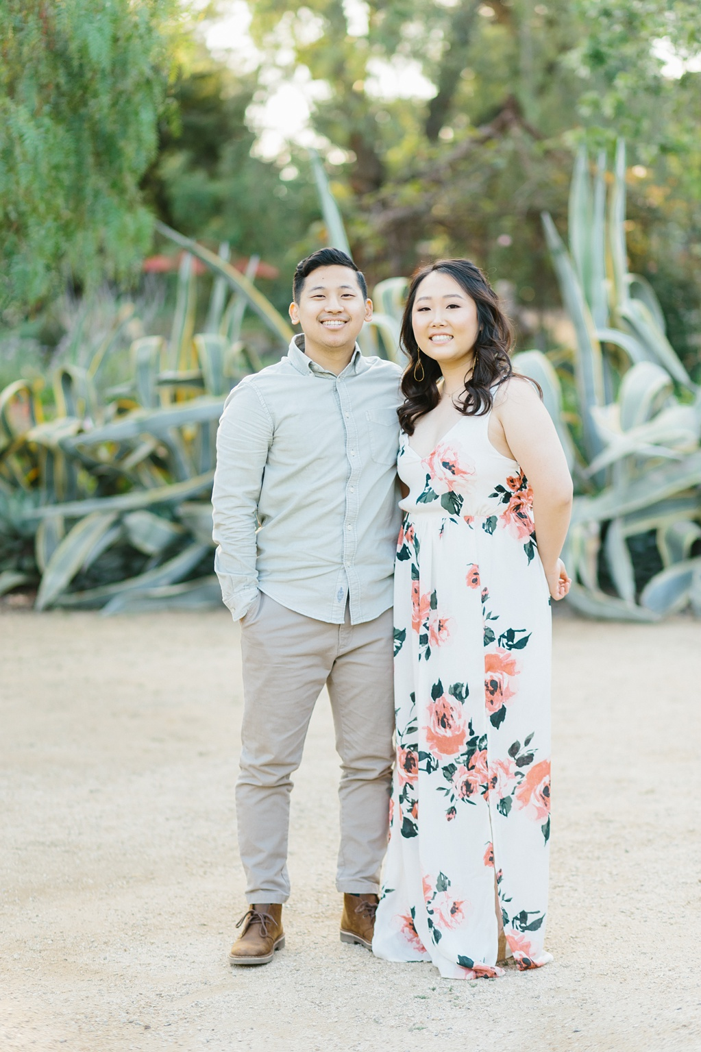 Organic floral inspired spring engagement session at Arlington Gardens Pasadena by wedding photographer Madison Ellis. (64)