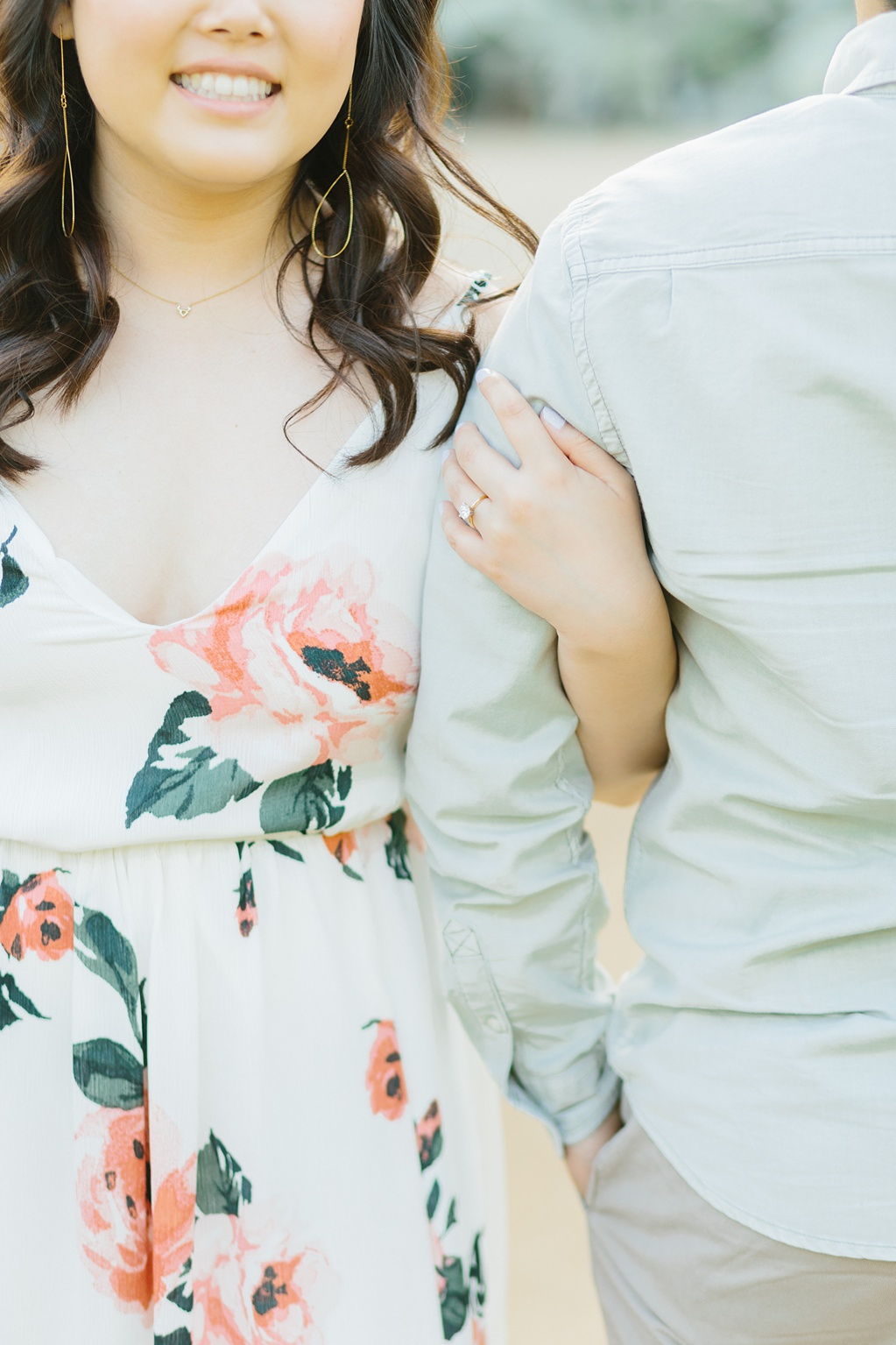 Organic floral inspired spring engagement session at Arlington Gardens Pasadena by wedding photographer Madison Ellis. (57)