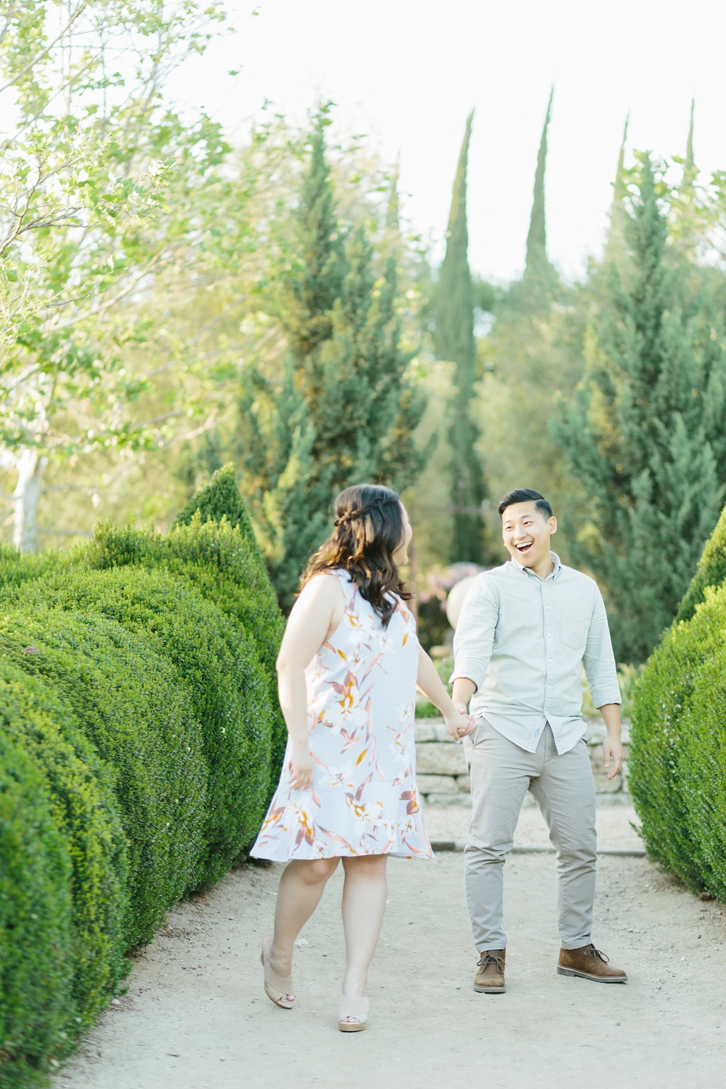 Organic floral inspired spring engagement session at Arlington Gardens Pasadena by wedding photographer Madison Ellis. (47)