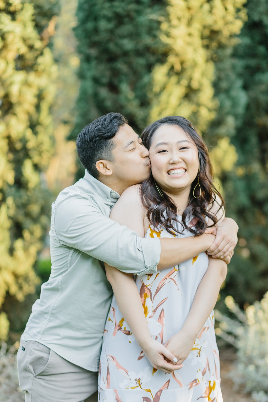 Organic floral inspired spring engagement session at Arlington Gardens Pasadena by wedding photographer Madison Ellis. (39)