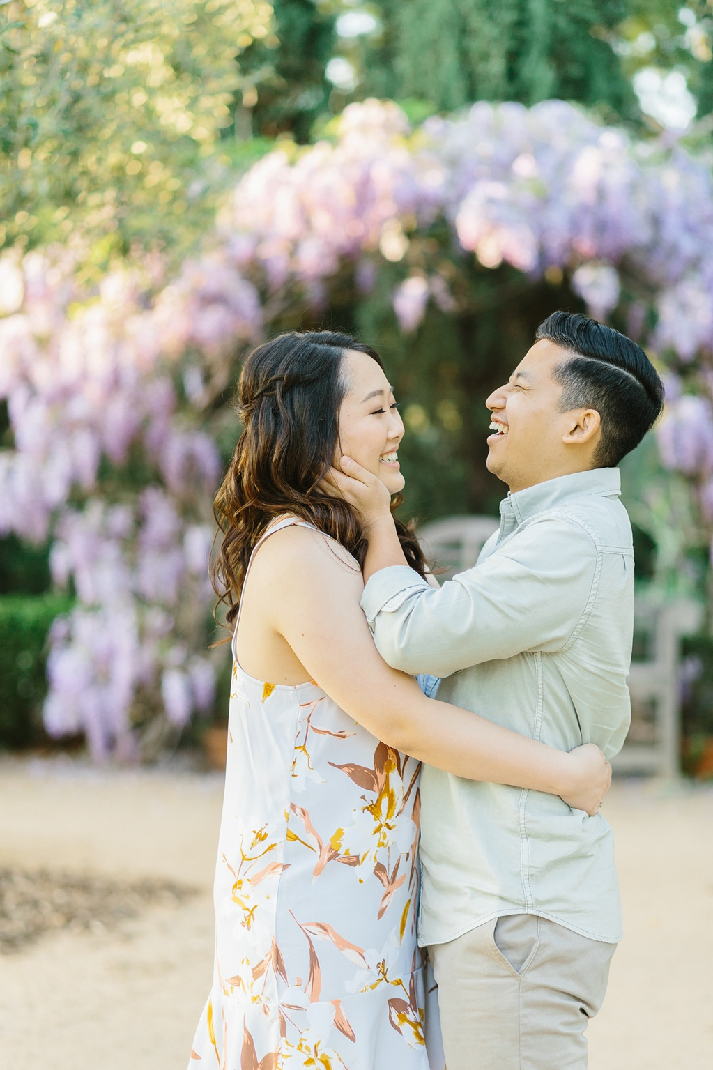 Organic floral inspired spring engagement session at Arlington Gardens Pasadena by wedding photographer Madison Ellis. (32)