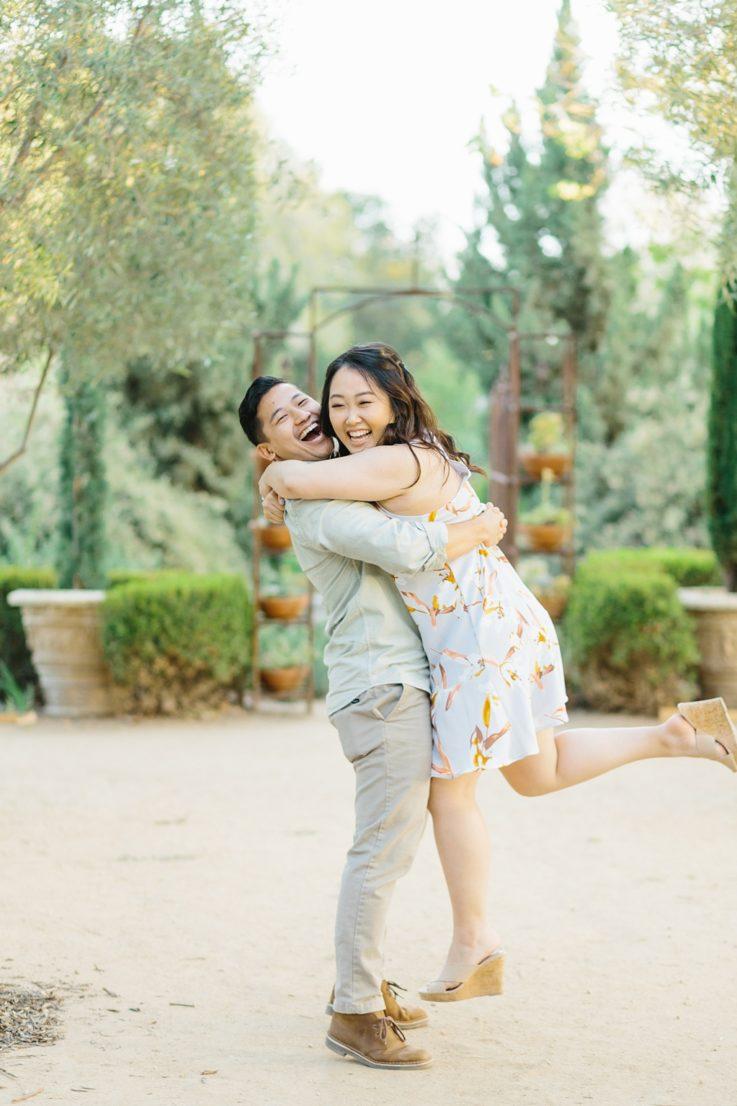 Organic floral inspired spring engagement session at Arlington Gardens Pasadena by wedding photographer Madison Ellis. (23)