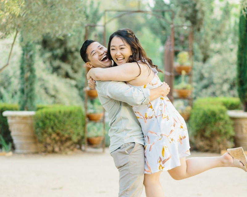 Organic floral inspired spring engagement session at Arlington Gardens Pasadena by wedding photographer Madison Ellis. (23)