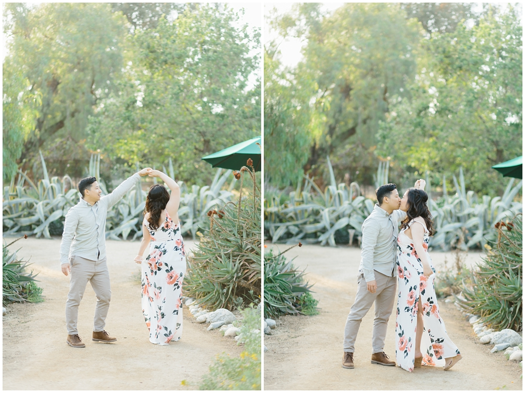 Organic floral inspired spring engagement session at Arlington Gardens Pasadena by wedding photographer Madison Ellis. (9)