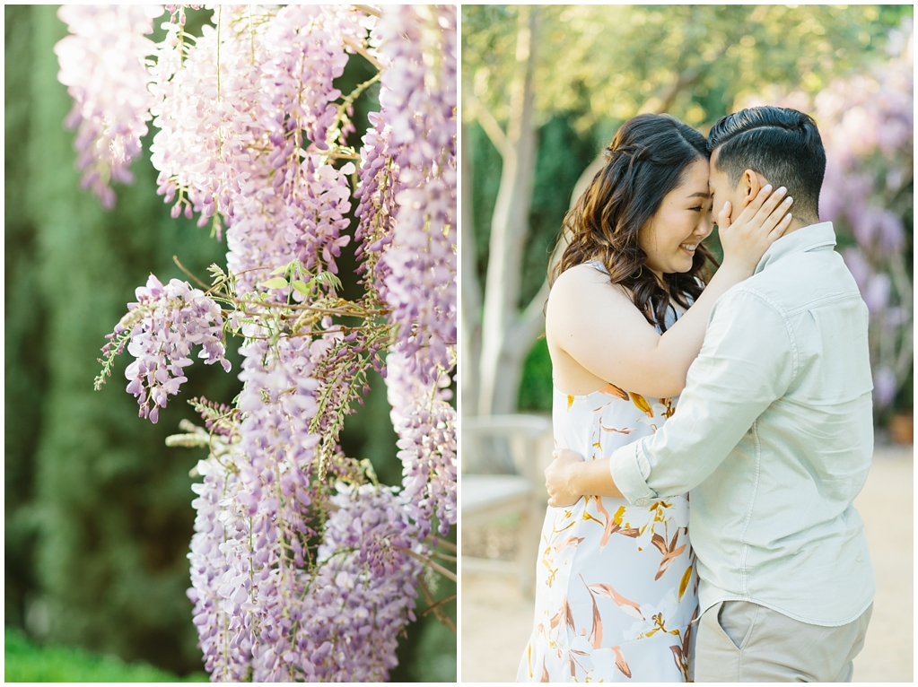 Organic floral inspired spring engagement session at Arlington Gardens Pasadena by wedding photographer Madison Ellis. (3)