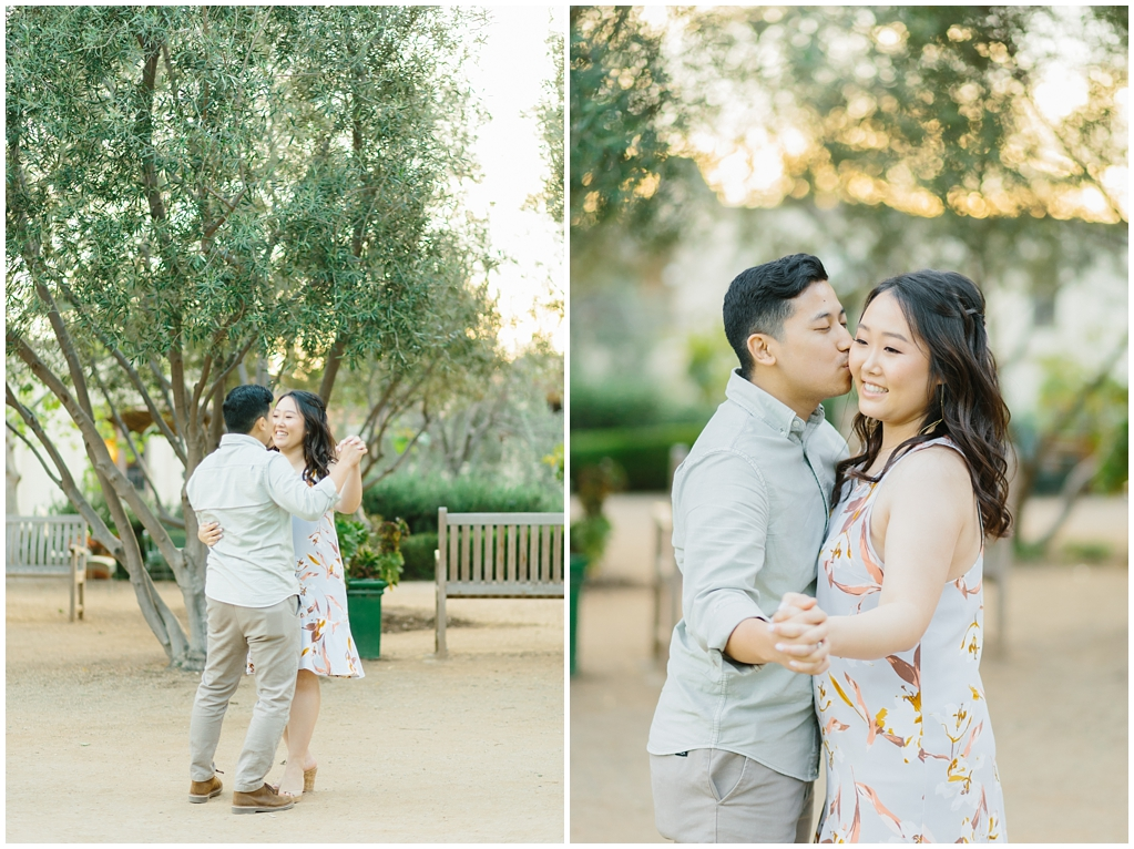 Organic floral inspired spring engagement session at Arlington Gardens Pasadena by wedding photographer Madison Ellis. (1)
