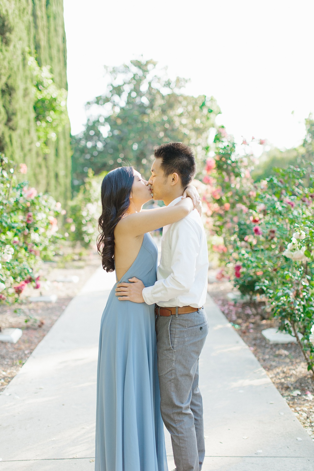 Elegant rose garden engagement shoot at Lacy Park in Pasadena by LA wedding photographer-Madison Ellis Photography (65)