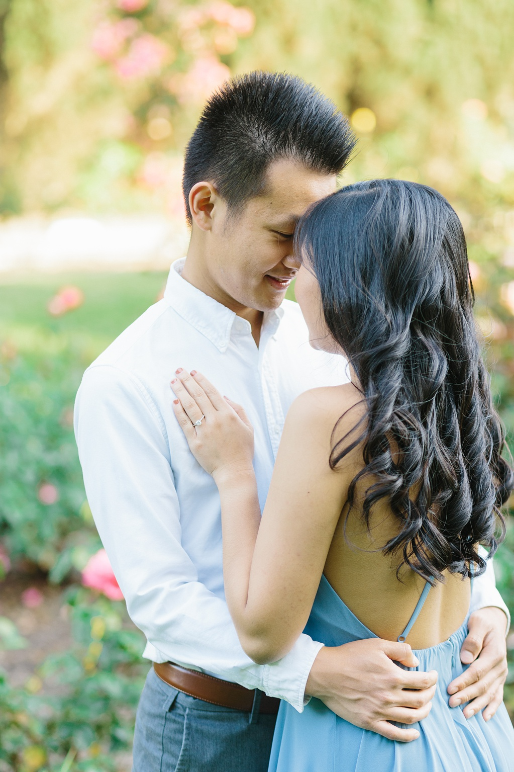 Elegant rose garden engagement shoot at Lacy Park in Pasadena by LA wedding photographer-Madison Ellis Photography (63)