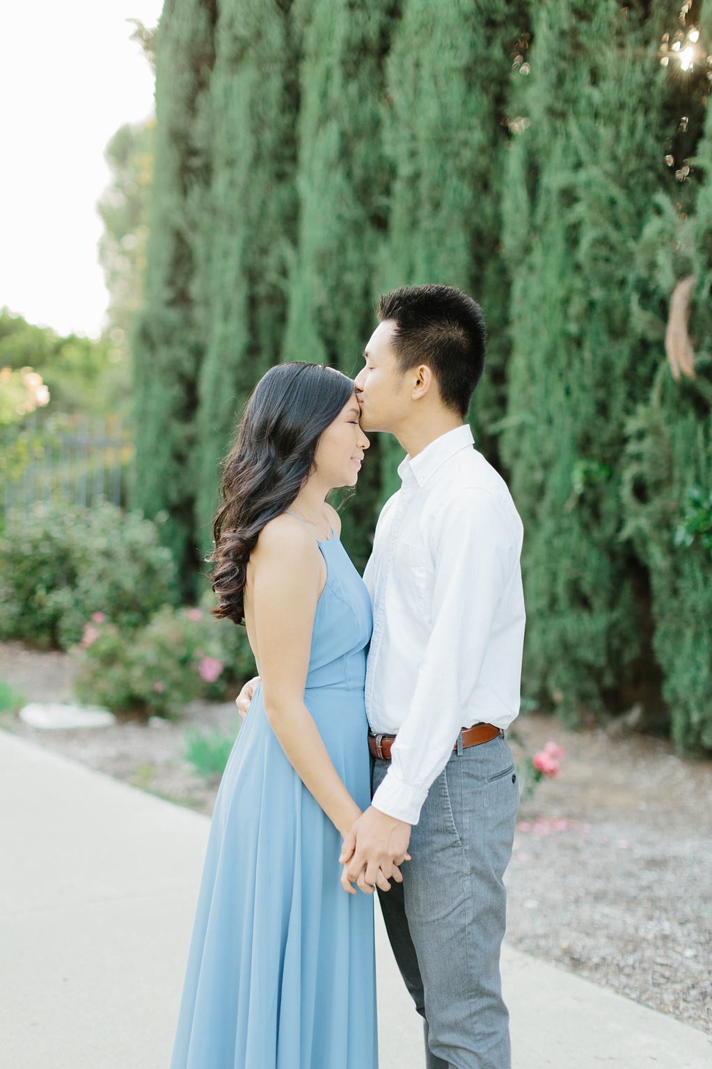 Elegant rose garden engagement shoot at Lacy Park in Pasadena by LA wedding photographer-Madison Ellis Photography (58)