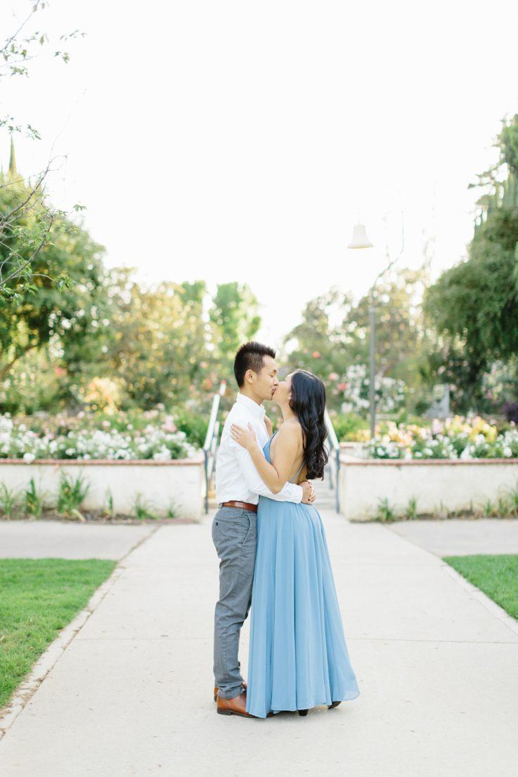 Elegant rose garden engagement shoot at Lacy Park in Pasadena by LA wedding photographer-Madison Ellis Photography (42)