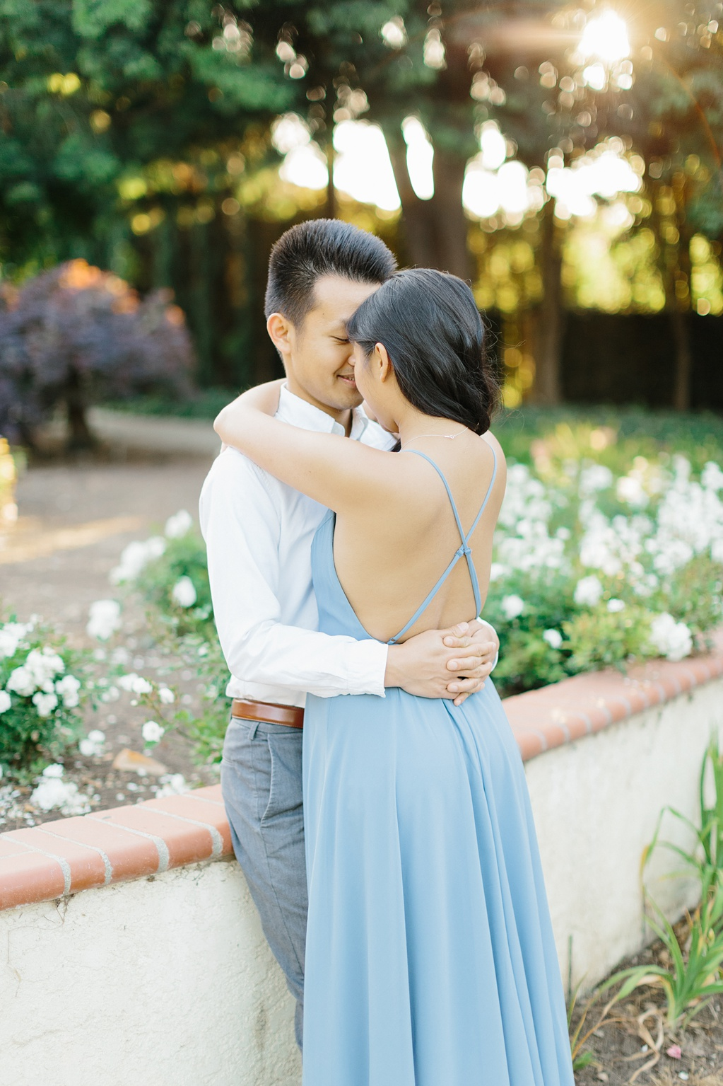 Elegant rose garden engagement shoot at Lacy Park in Pasadena by LA wedding photographer-Madison Ellis Photography (41)