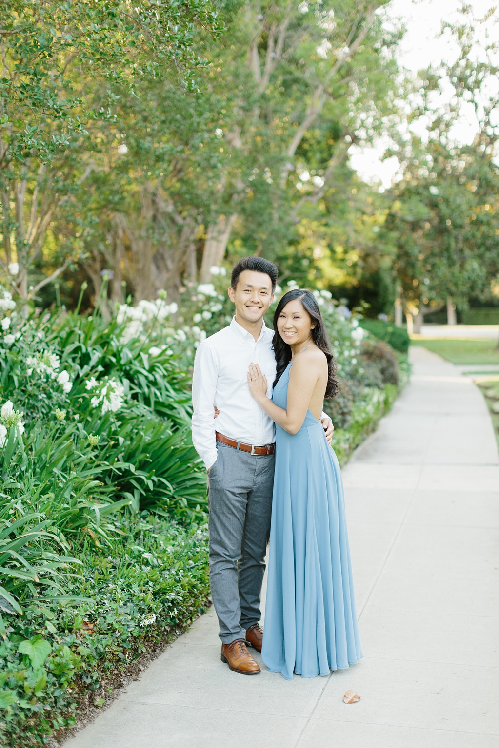 Elegant rose garden engagement shoot at Lacy Park in Pasadena by LA wedding photographer-Madison Ellis Photography (32)