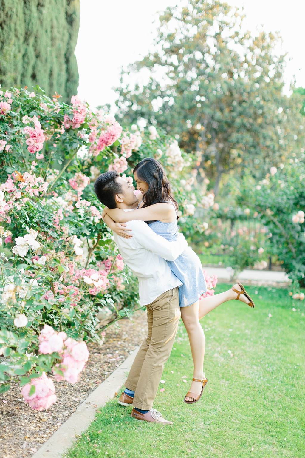 Elegant rose garden engagement shoot at Lacy Park in Pasadena by LA wedding photographer-Madison Ellis Photography (28)