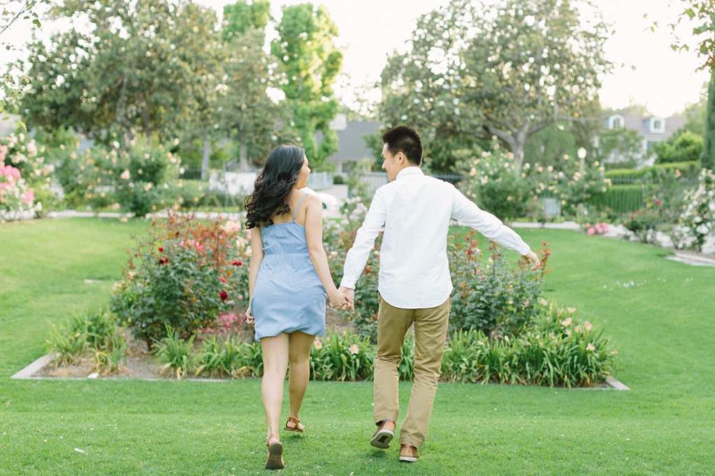 Elegant rose garden engagement shoot at Lacy Park in Pasadena by LA wedding photographer-Madison Ellis Photography (23)