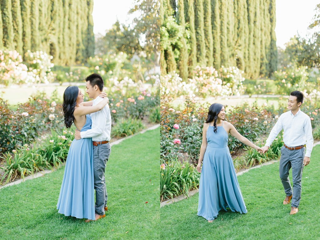 Elegant rose garden engagement shoot at Lacy Park in Pasadena by LA wedding photographer-Madison Ellis Photography (17)