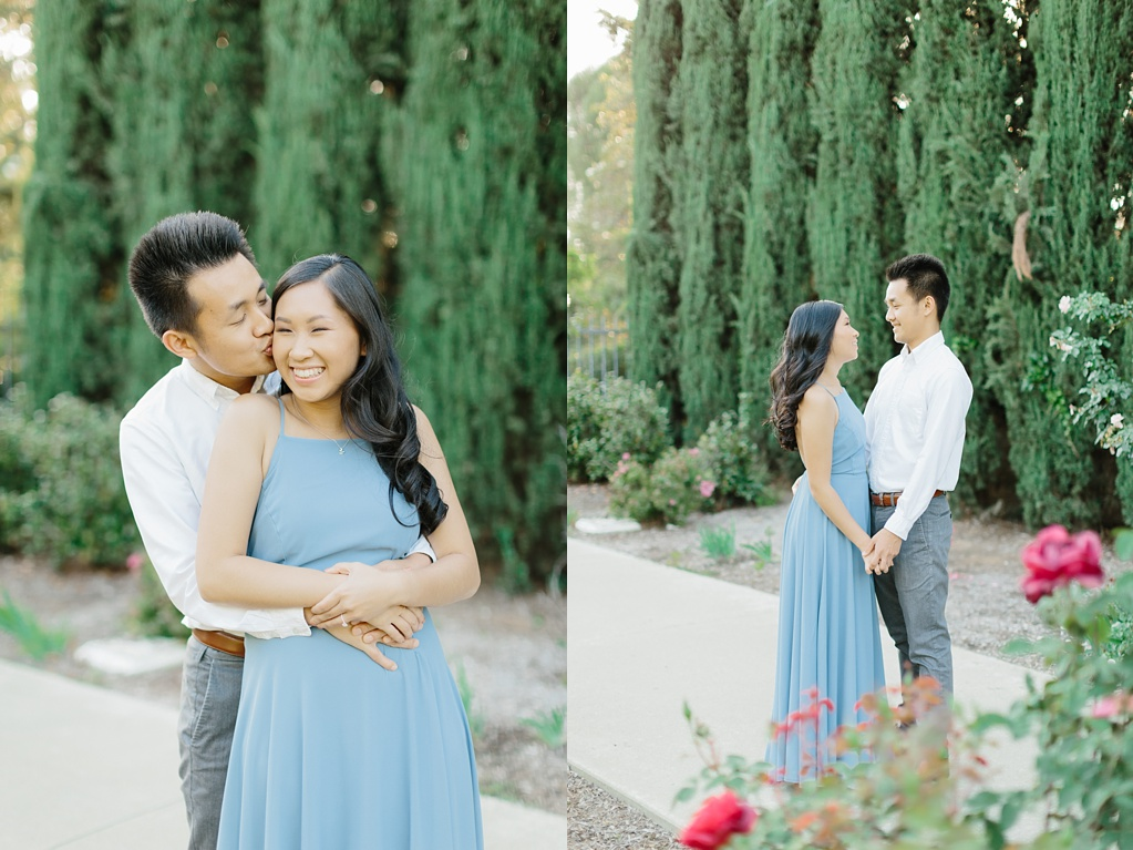 Elegant rose garden engagement shoot at Lacy Park in Pasadena by LA wedding photographer-Madison Ellis Photography (16)
