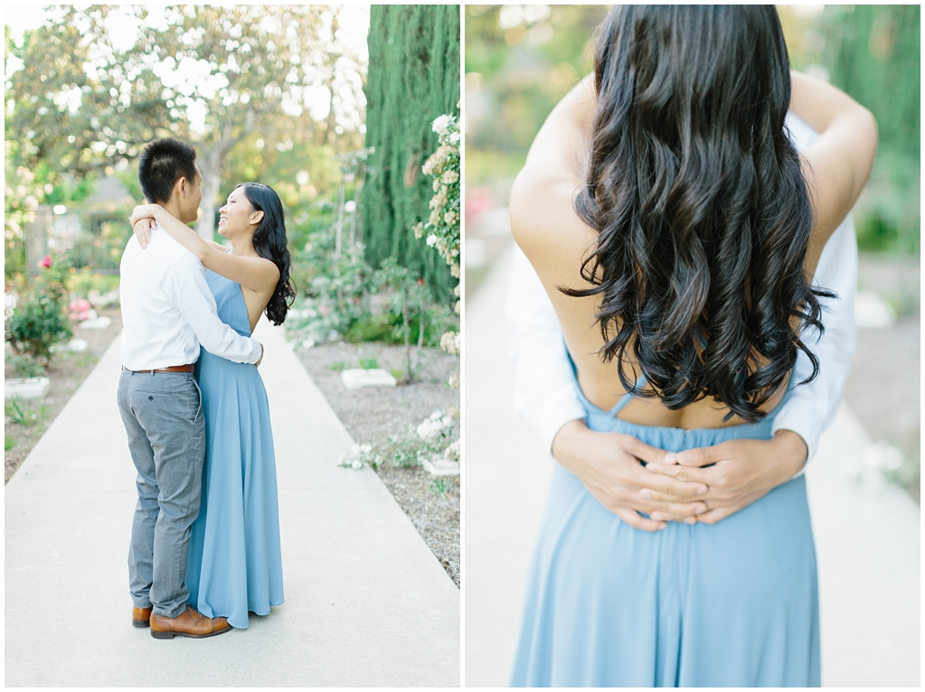 Elegant rose garden engagement shoot at Lacy Park in Pasadena by LA wedding photographer-Madison Ellis Photography (14)