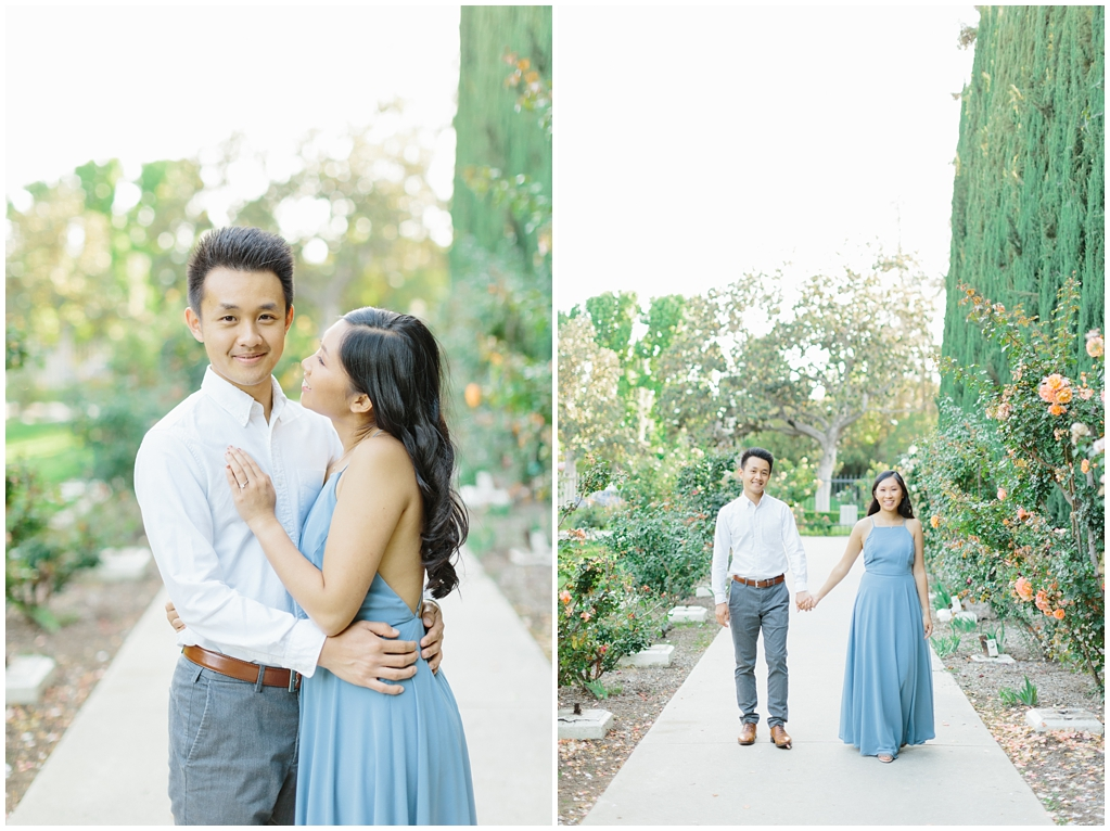 Elegant rose garden engagement shoot at Lacy Park in Pasadena by LA wedding photographer-Madison Ellis Photography (13)