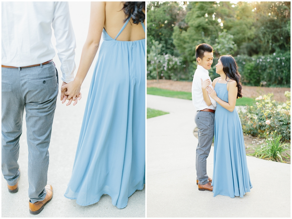 Elegant rose garden engagement shoot at Lacy Park in Pasadena by LA wedding photographer-Madison Ellis Photography (12)