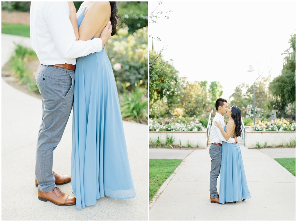 Elegant rose garden engagement shoot at Lacy Park in Pasadena by LA wedding photographer-Madison Ellis Photography (11)