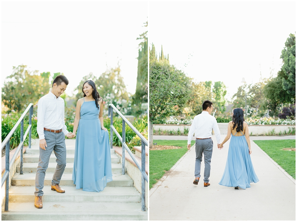Elegant rose garden engagement shoot at Lacy Park in Pasadena by LA wedding photographer-Madison Ellis Photography (10)
