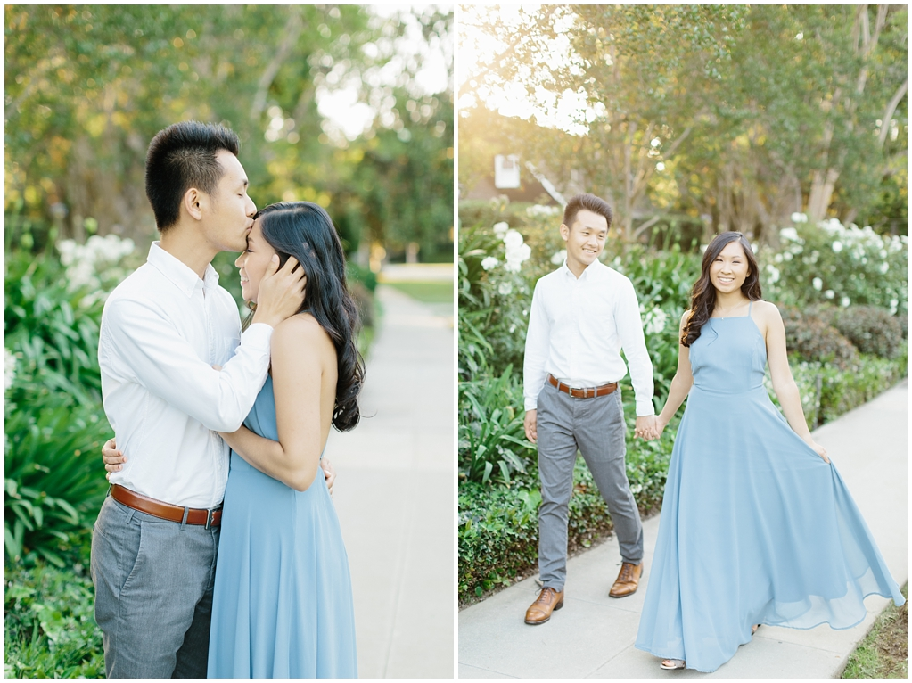 Elegant rose garden engagement shoot at Lacy Park in Pasadena by LA wedding photographer-Madison Ellis Photography (7)