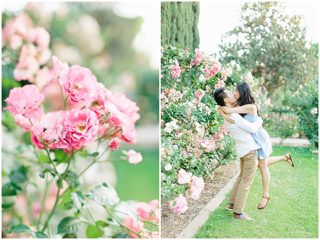 Elegant rose garden engagement shoot at Lacy Park in Pasadena by LA wedding photographer-Madison Ellis Photography (6)