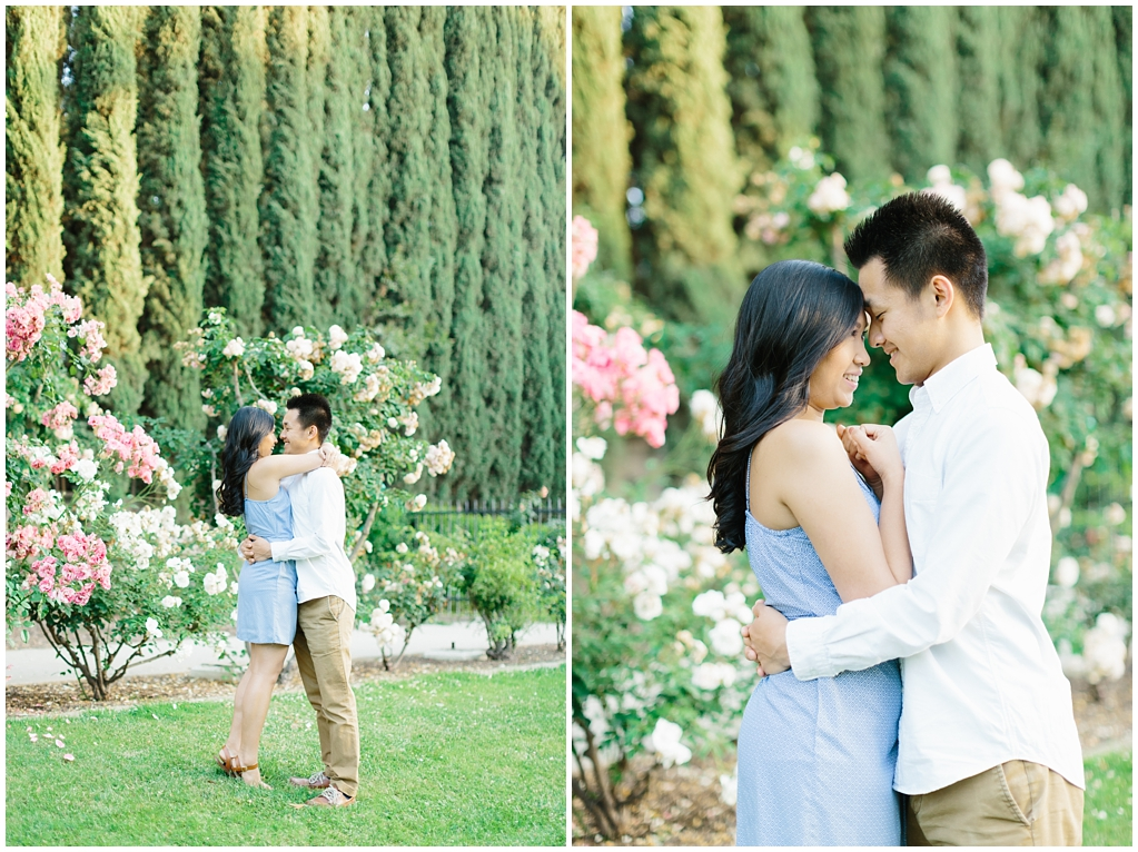 Elegant rose garden engagement shoot at Lacy Park in Pasadena by LA wedding photographer-Madison Ellis Photography (5)