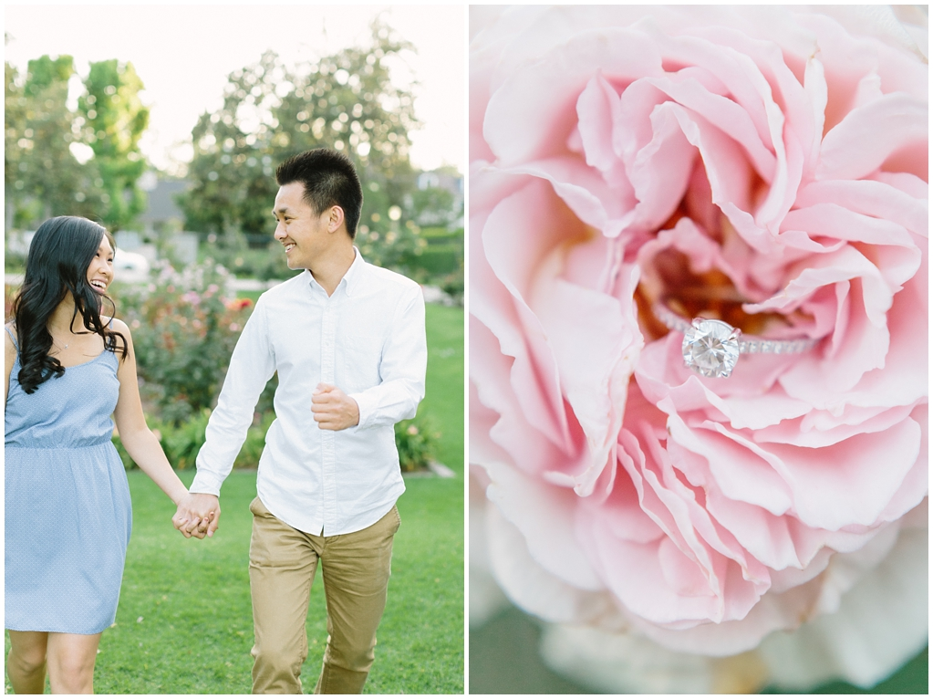 Elegant rose garden engagement shoot at Lacy Park in Pasadena by LA wedding photographer-Madison Ellis Photography (4)