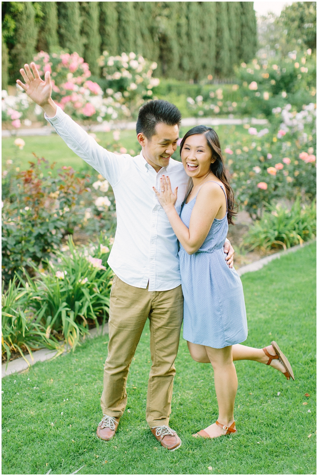 Elegant rose garden engagement shoot at Lacy Park in Pasadena by LA wedding photographer-Madison Ellis Photography (2)