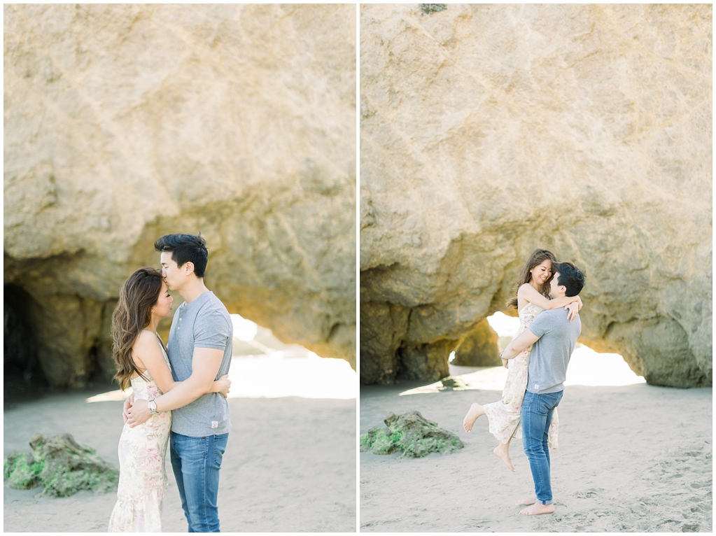 A classic California beach engagement session in Malibu by natural light wedding photographer, Madison Ellis Photography. (40)
