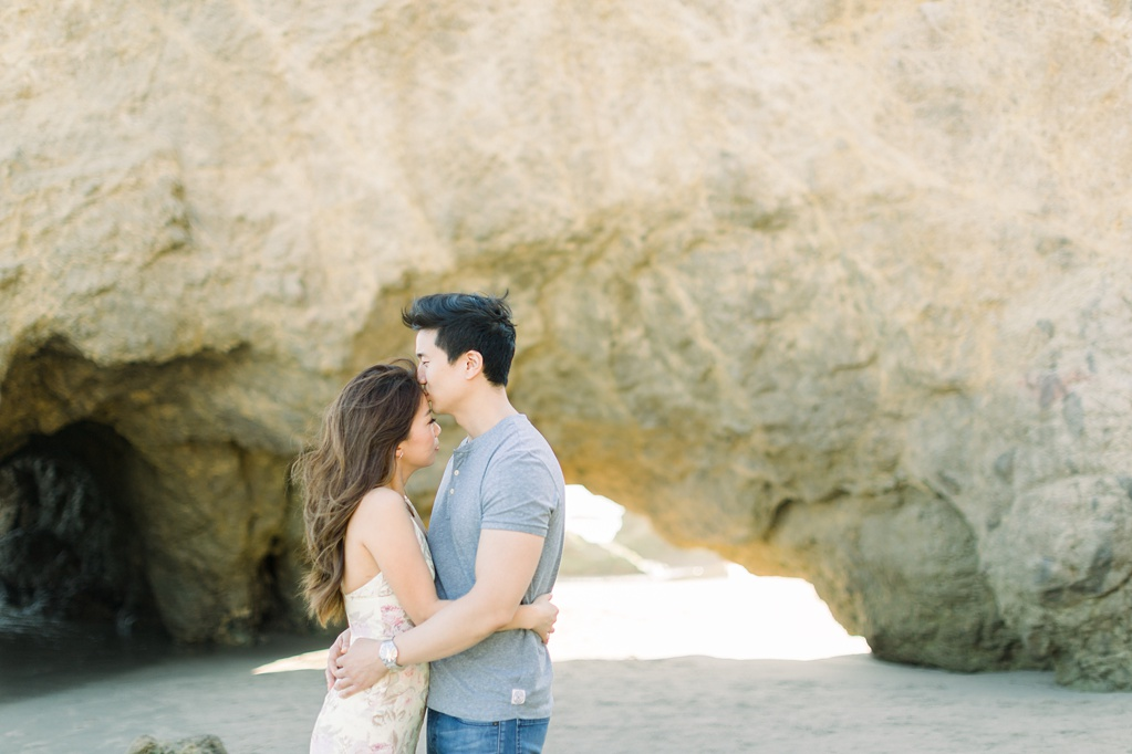 A classic California beach engagement session in Malibu by natural light wedding photographer, Madison Ellis Photography. (39)