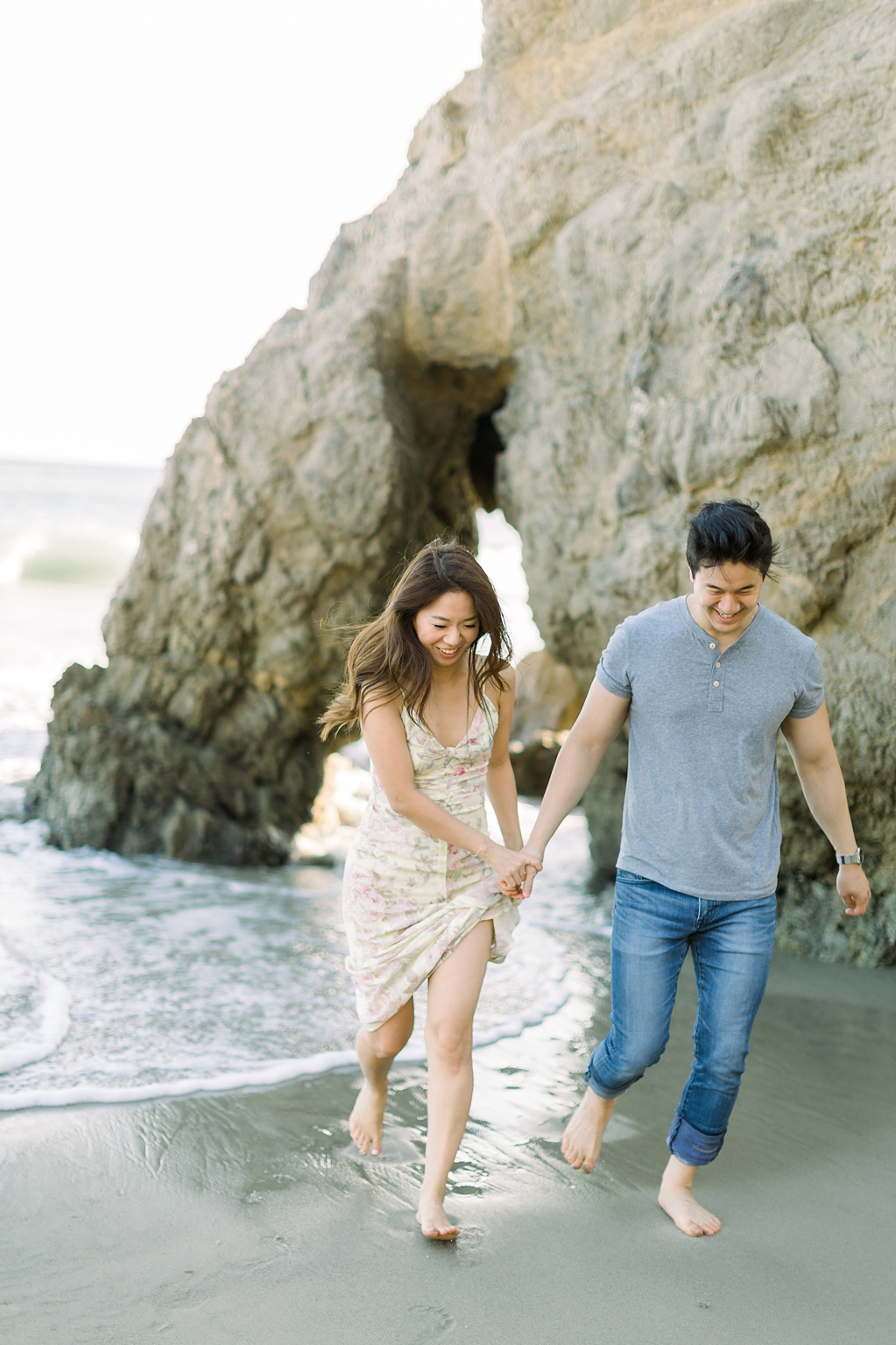 A classic California beach engagement session in Malibu by natural light wedding photographer, Madison Ellis Photography. (37)