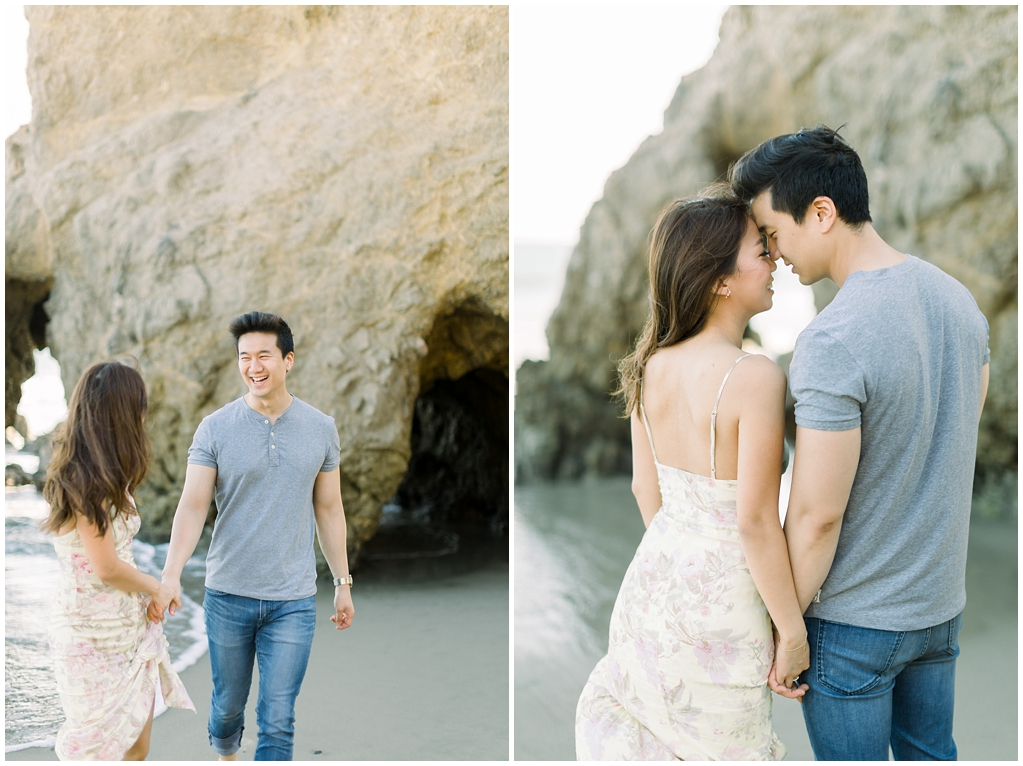 A classic California beach engagement session in Malibu by natural light wedding photographer, Madison Ellis Photography. (36)