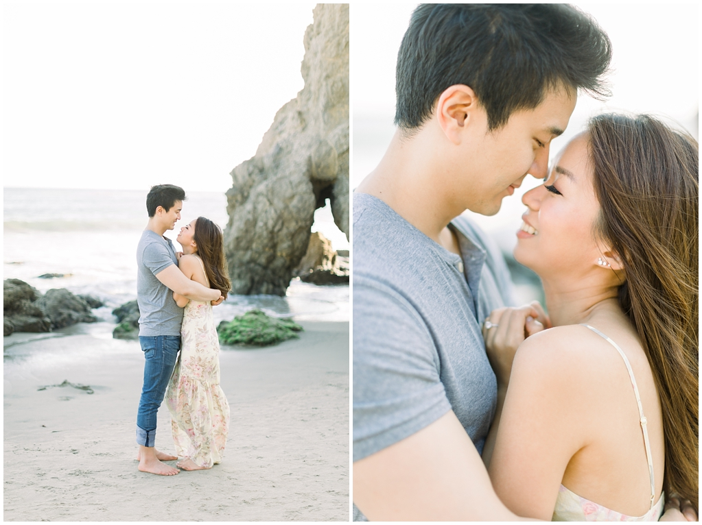 A classic California beach engagement session in Malibu by natural light wedding photographer, Madison Ellis Photography. (34)