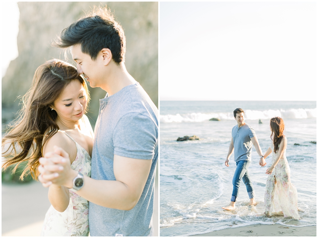 A classic California beach engagement session in Malibu by natural light wedding photographer, Madison Ellis Photography. (31)
