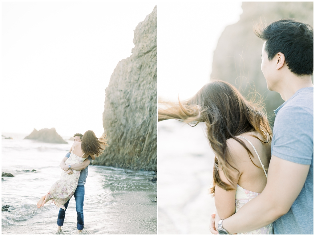 A classic California beach engagement session in Malibu by natural light wedding photographer, Madison Ellis Photography. (12)
