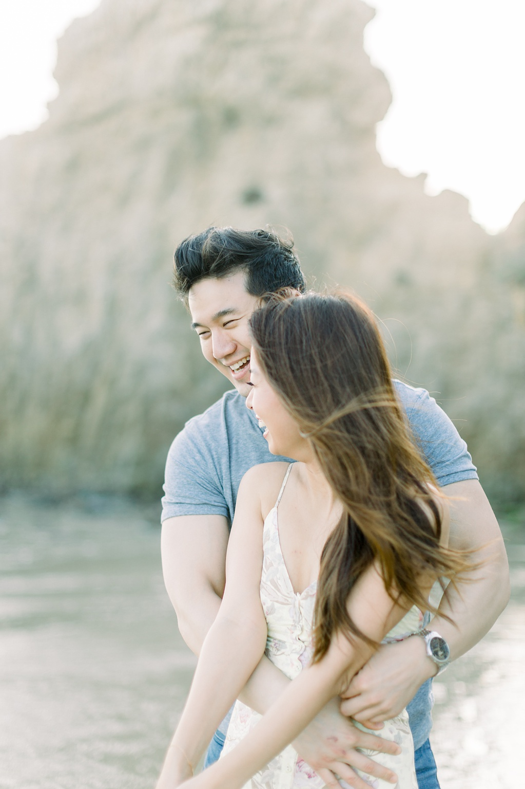A classic California beach engagement session in Malibu by natural light wedding photographer, Madison Ellis Photography. (10)