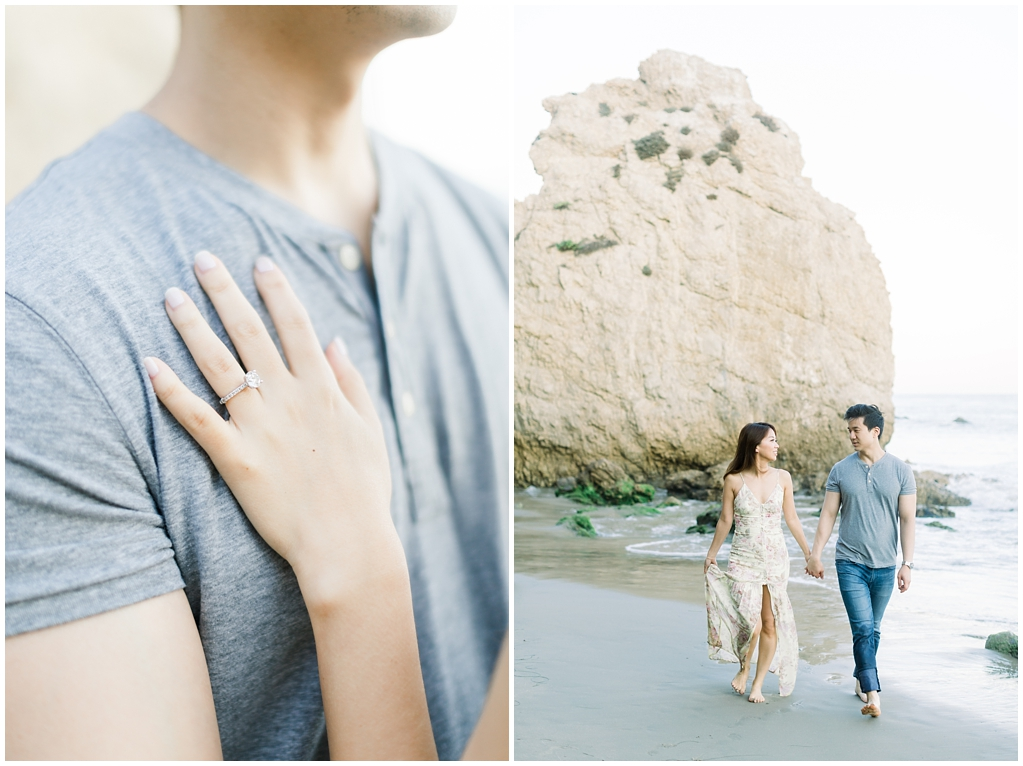 A classic California beach engagement session in Malibu by natural light wedding photographer, Madison Ellis Photography. (7)