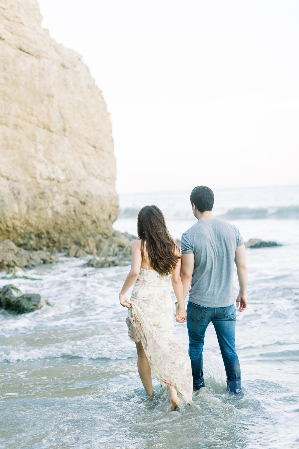 A classic California beach engagement session in Malibu by natural light wedding photographer, Madison Ellis Photography. (6)